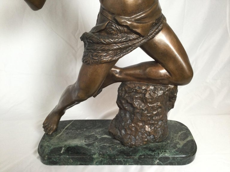 Art Deco Patinated Bronze Figure of an Archer by Artist Kelety In Excellent Condition For Sale In Lambertville, NJ