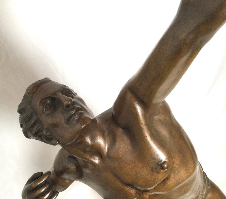 Early 20th Century Art Deco Patinated Bronze Figure of an Archer by Artist Kelety For Sale
