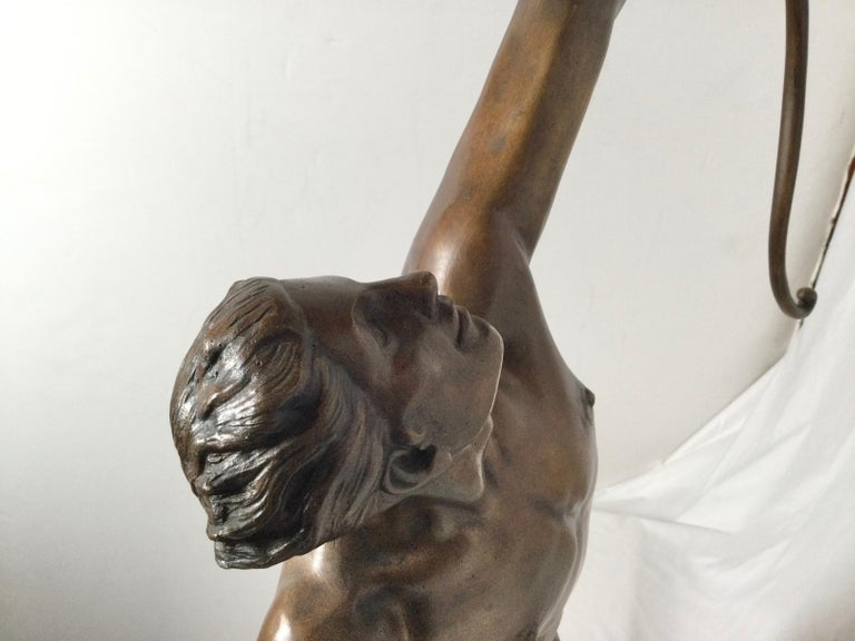 Art Deco Patinated Bronze Figure of an Archer by Artist Kelety For Sale 4
