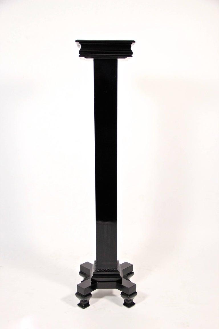 Austrian Art Deco Pedestal Ebonized, Austria, circa 1920 For Sale