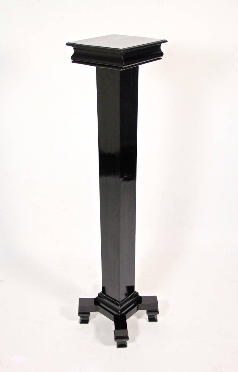 20th Century Art Deco Pedestal Ebonized, Austria, circa 1920 For Sale