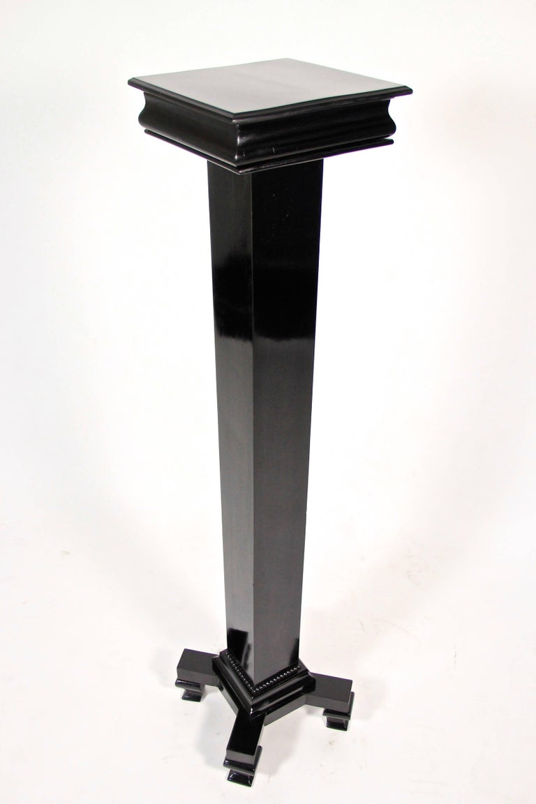 Art Deco Pedestal Ebonized, Austria, circa 1920 For Sale 2