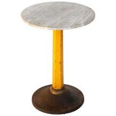 Art Deco Pedestal Table Carl Witzmann, Marble Metal Cast Iron, Austria, 1920s