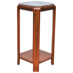 Art Deco Pedestal with Marble Top, 1930s, France