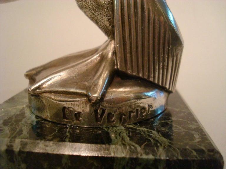 Bird sculpture / car mascot / paperweight / packet watch holder. Art Deco