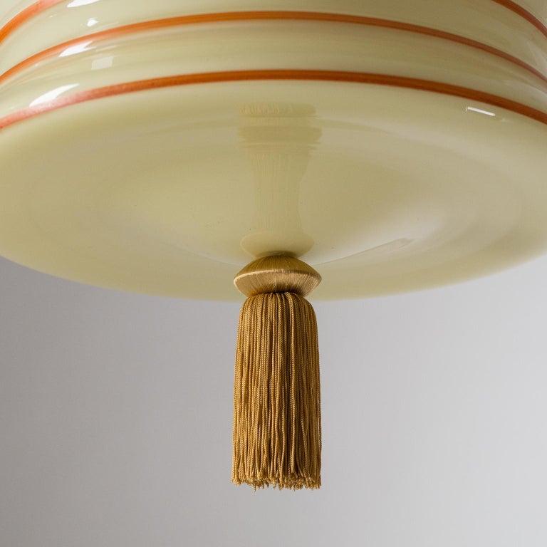 Mid-20th Century Art Deco Pendant, 1930s, Enameled Glass For Sale