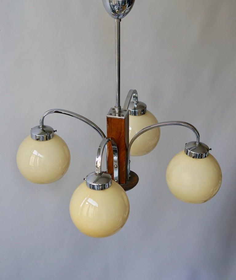 Art Deco Pendant Chandelier For Sale 4