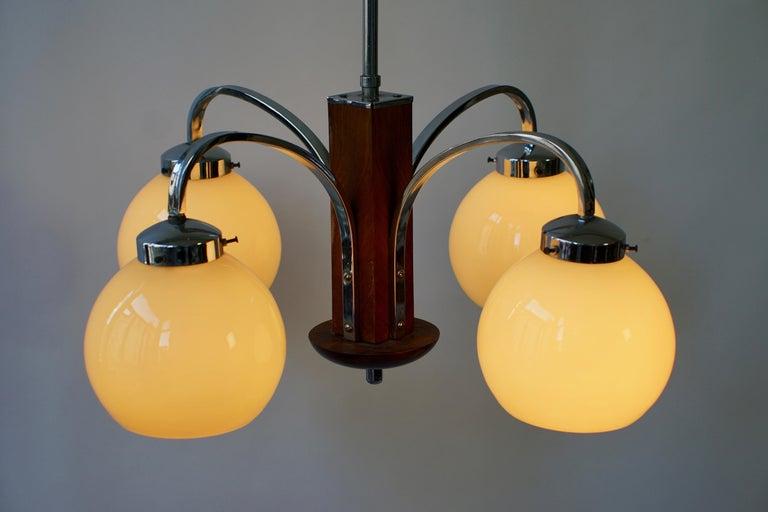 Art Deco Pendant Chandelier For Sale 5