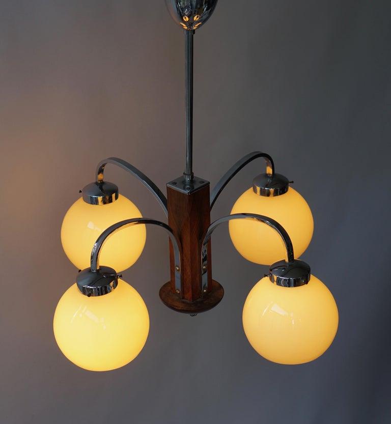 Art Deco Pendant Chandelier For Sale 7