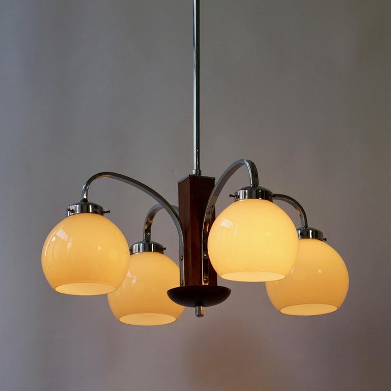 Italian Art Deco Pendant Chandelier For Sale