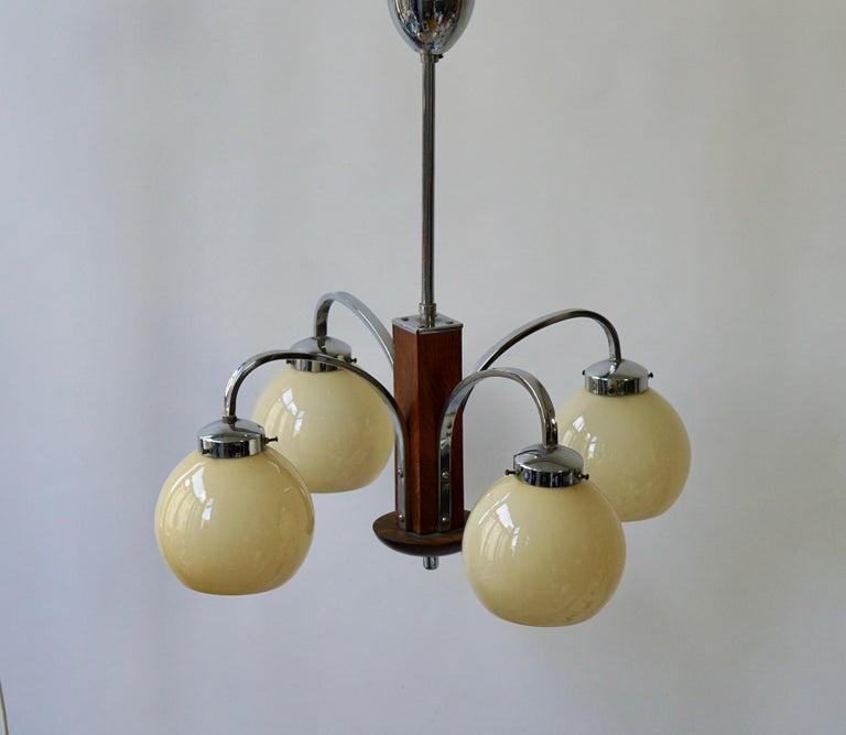 Art Deco Pendant Chandelier In Good Condition For Sale In Antwerp, BE