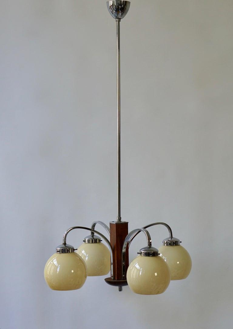 20th Century Art Deco Pendant Chandelier For Sale