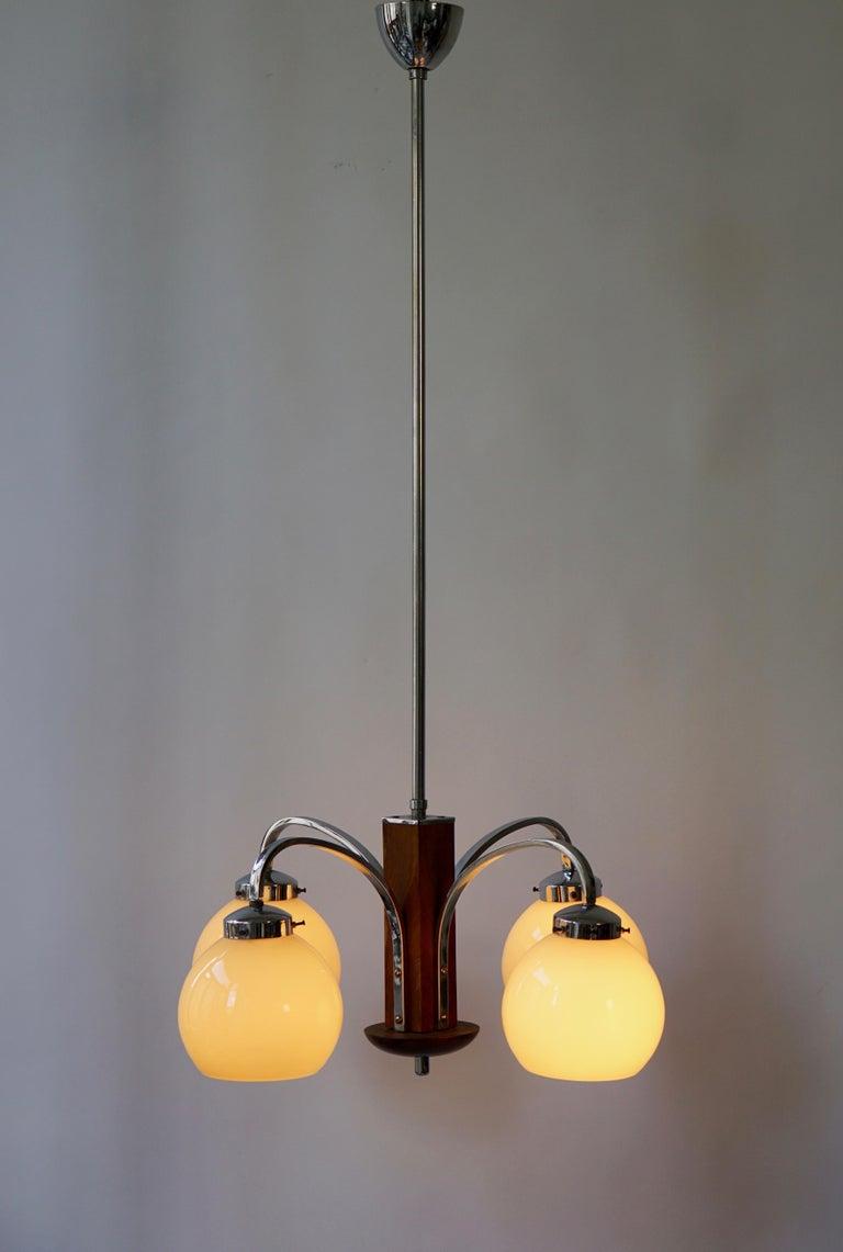 Art Deco Pendant Chandelier For Sale 1