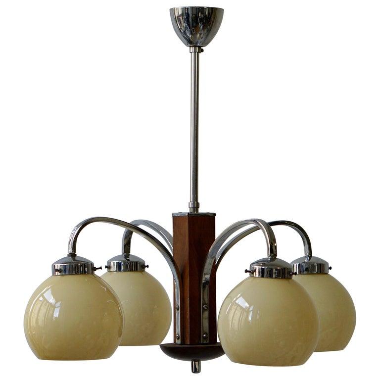 Art Deco Pendant Chandelier For Sale