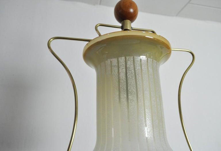 Wood Art Deco Pendant Light, Scandinavian, 1930s For Sale