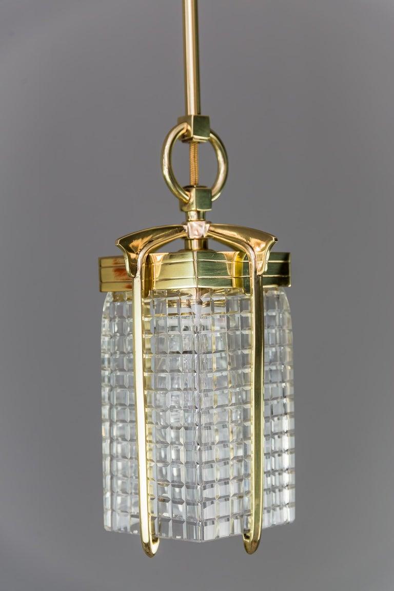 Art Deco pendant, vienna, 1920s. Polished  Stove enamelled.