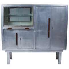 Art Deco Period Aluminum Display Cabinet