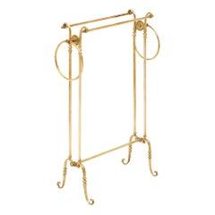 Art Deco Period Brass Valet