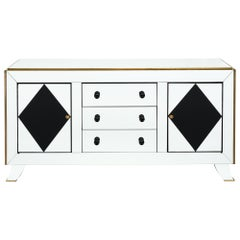 Art Deco Period Buffet with Mirrored Veneer