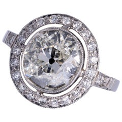 Art Deco Period European Cushion Cut Diamond Ring