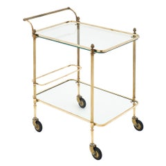Art Deco Period French Bar Cart with Finials