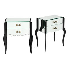 Art Deco Period French Mirrored Side Tables