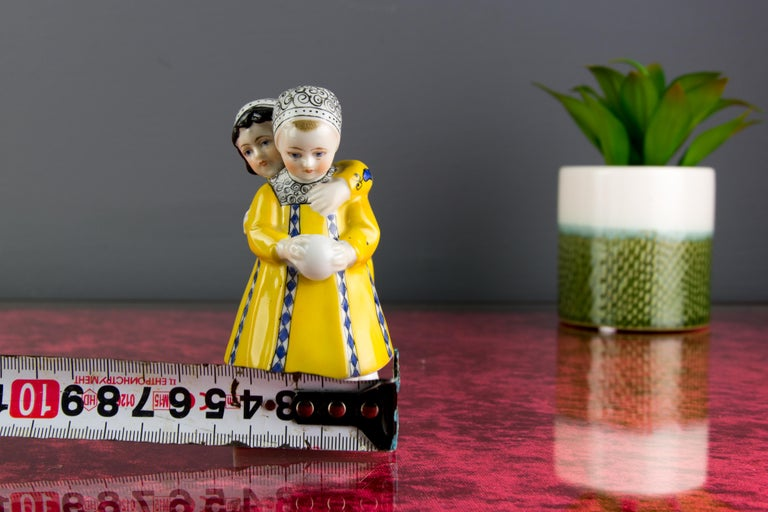 Art Deco Period Goebel Porcelain Figure Group of Two Children with Ball, 1920s For Sale 10
