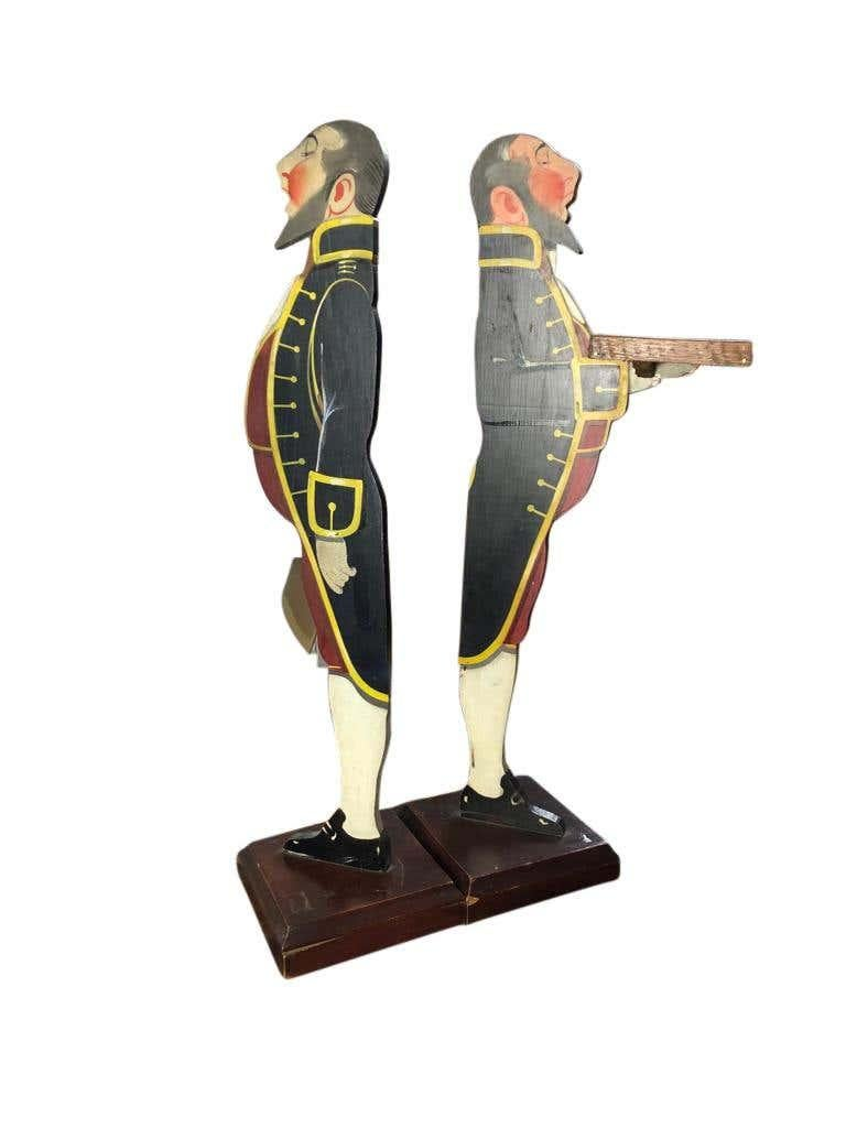 Wood Art Deco Period, Matched Pair of Dumb Waiter Stands For Sale
