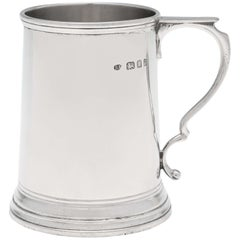 Art Deco Period Sterling Silver Christening Mug Hallmarked 1931 David Fullerton