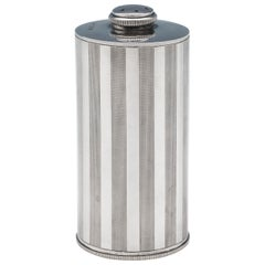 Art Deco Period Sterling Silver Talcum Powder Jar by A. Wilcox in 1931