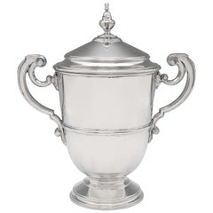 Art Deco Period Sterling Silver Trophy Cup and Cover by Richard Comyns in 1934