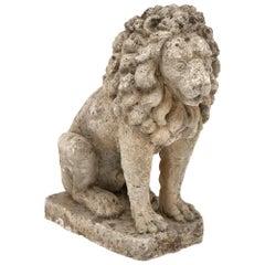 Art Deco Period Stone Lion
