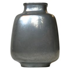 Art Deco Pewter Vase by Just Andersen, 1930s