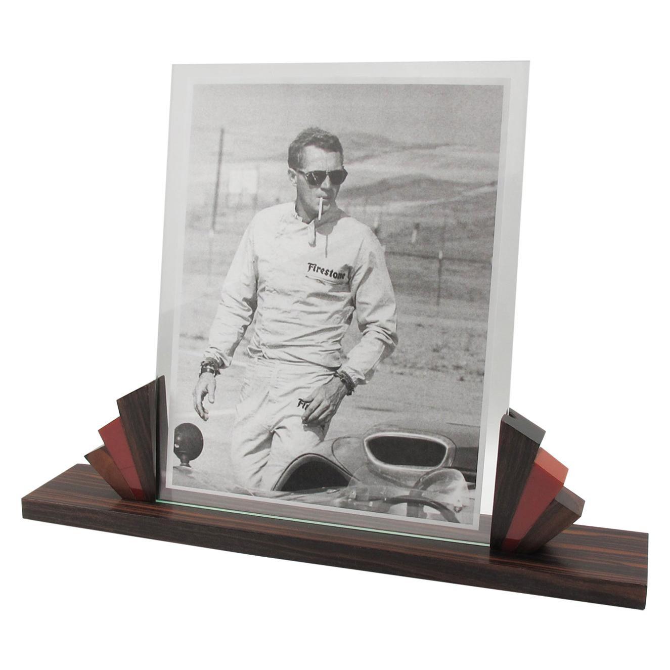 Art Deco Picture Frame Macassar Wood and Bakelite