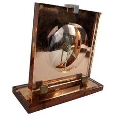 Art Deco Pink Champagne Glass Mantel Clock Gilbert Rohde