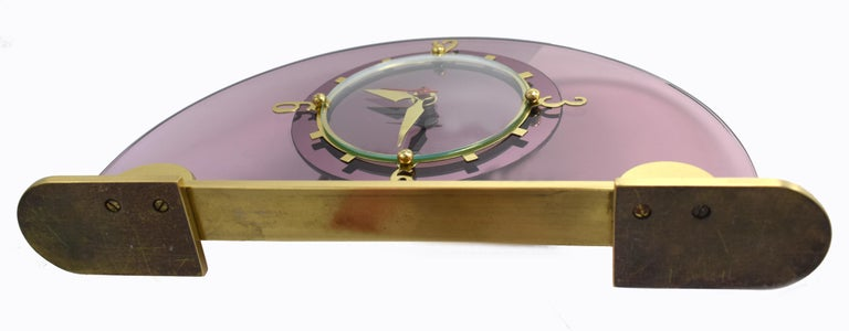 Art Deco Pink Mantle Clock by Smiths Clock Makers, circa 1930 For Sale 1