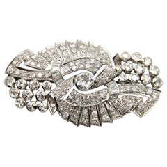Art Deco Platinum 10 Carat Diamond Brooch