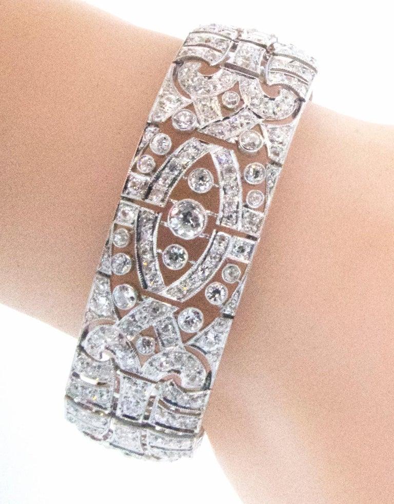Art Deco Platin und Diamant-Armband, ca. 1930 4