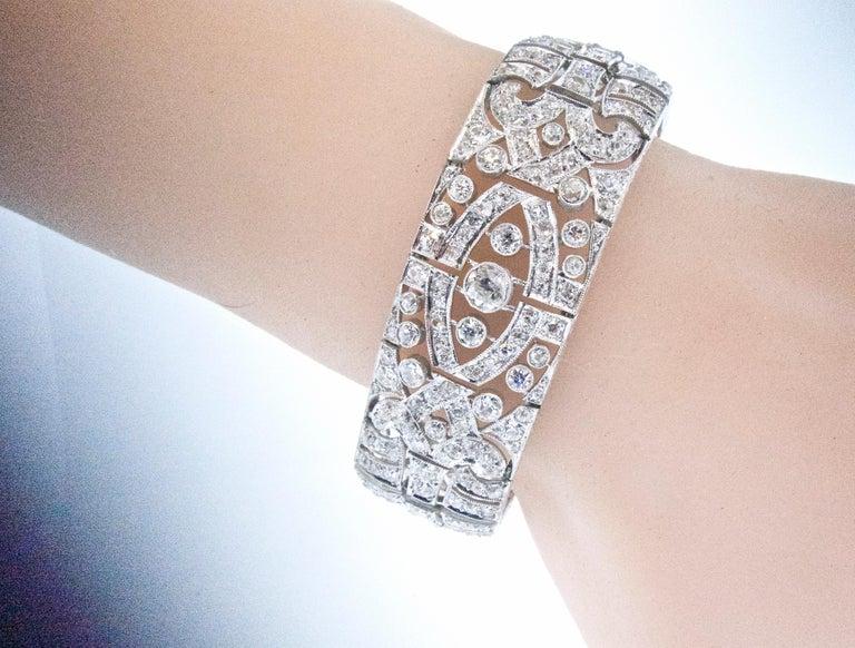 Art Deco Platin und Diamant-Armband, ca. 1930 5