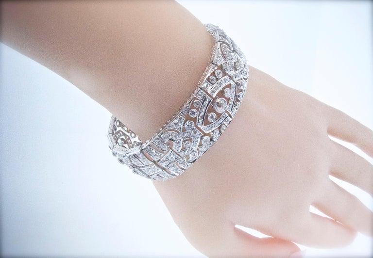 Art Deco Platin und Diamant-Armband, ca. 1930 6