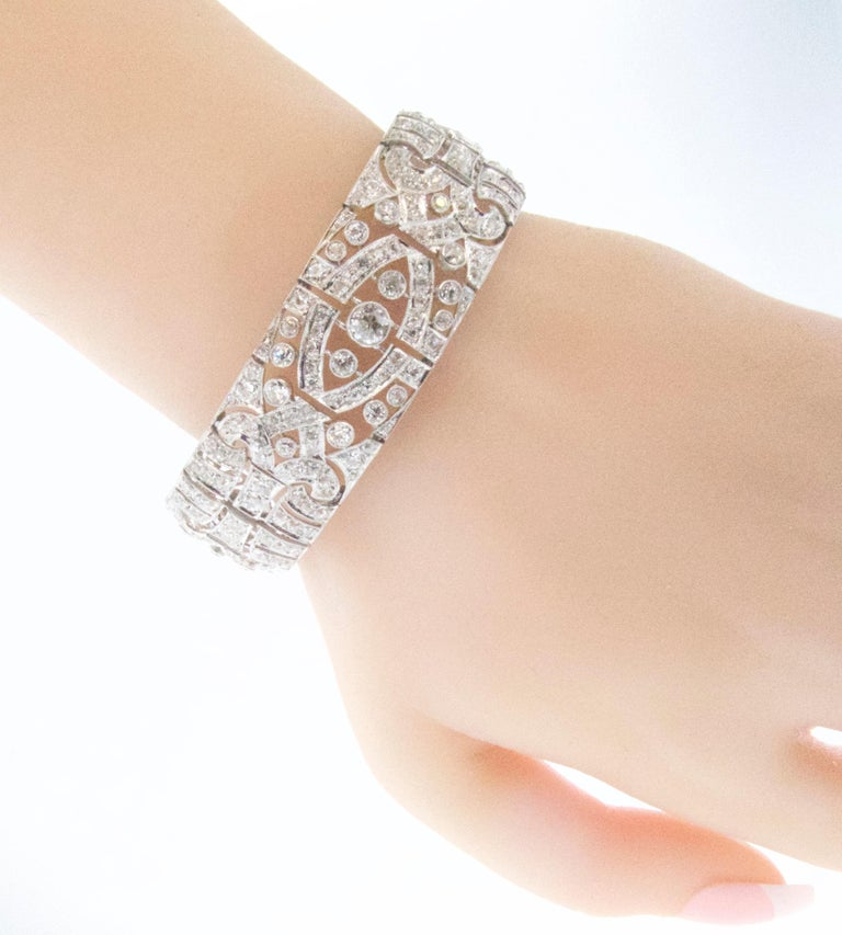 Art Deco Platin und Diamant-Armband, ca. 1930 7