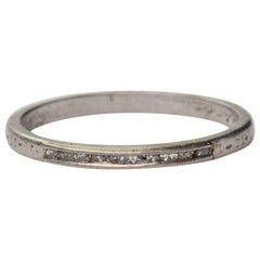 Art Deco Platinum and Diamond Wedding Band