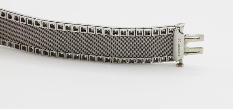 Women's Art Deco Platinum Bigelow Kennard & Co. 4.50 Carat Diamond Ladies Dress Watch