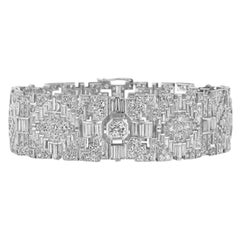 Art Deco Platinum Bracelet with Diamonds