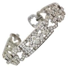 Art Deco Platinum Diamond Bracelet, 1930