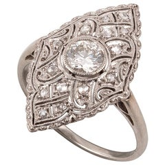 Art Deco Gold Diamond Cluster Ring
