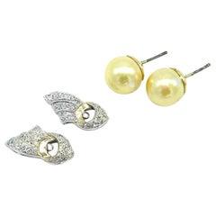 Art Deco Platinum, Diamond Earring Jackets .50 Carat