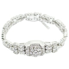Art Deco Style Platinum Diamond Watch-Bracelet