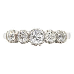 Art Deco Platinum Diamonds Ring