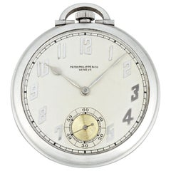 Art Deco Platinum Pocket Watch by Patek Philippe